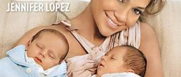 Gemelos de Jennifer Lopez en Portada