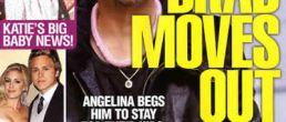 Revista afirma que Brad Pitt abandonó a Angelina Jolie