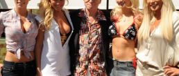 Hugh Hefner celebró sus 83 años