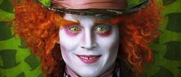 Johnny Depp y las primeras fotos de Alice in Wonderland