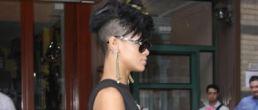 Rihanna y su cabeza razurada (estilo Mohawk)
