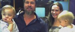 Reaparecen los gemelos de Angelina Jolie y Brad Pitt