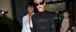 Fotos de Rihanna y su vestido transparente