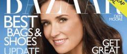 Demi Moore en la portada de Harper's Bazaar