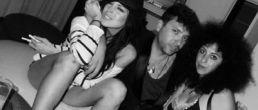 Foto de Lindsay junto a líneas de cocaína