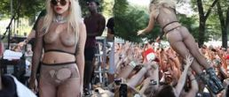 Lady Gaga semi desnuda en Loolapalooza 2010 (Fotos y Video)