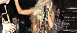 Lady Gaga y su vestido de cabello