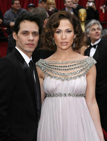 Jlo y Marc Anthony en el Oscar