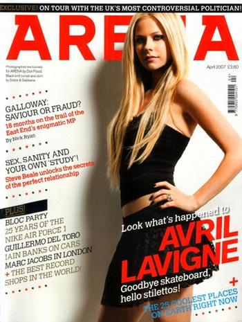Avril Lavigne revista Arena