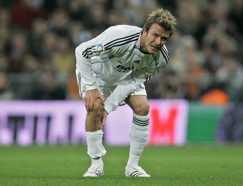 David Beckham se lesiona