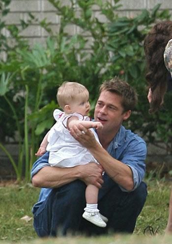 Brad Pitt y Shiloh