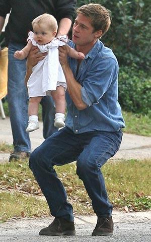 Brad Pitt y su nena