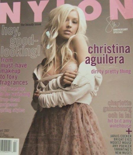 Christina Aguilera en Nylon