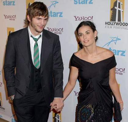 Demi Moore embarazada de Ashton Kutcher