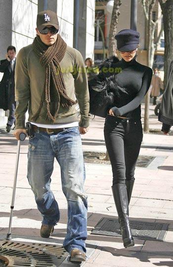 David y Victoria Beckham lesión