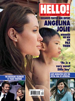 Angelina Jolie y su nuevo hijo