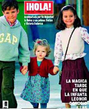 Infanta Leonor en Hola