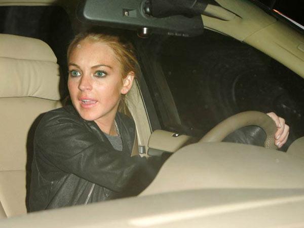 Lindsay Lohan atropella