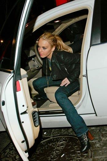 Lindsay Lohan accidente auto