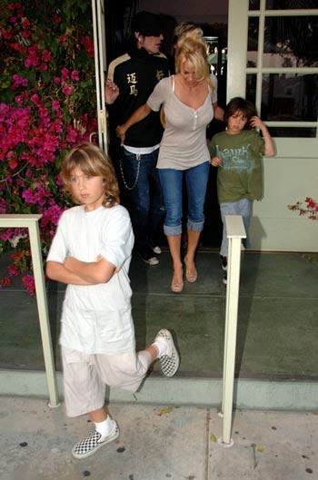 Pamela Anderson hijos