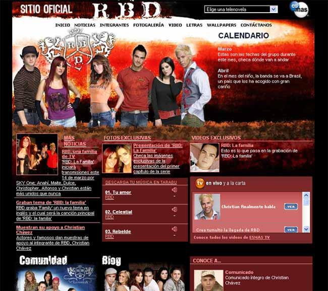 RBD sitio oficial