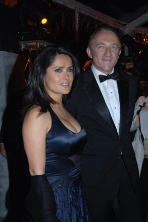 Salma Hayek y su novio
