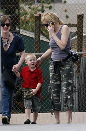 Sharon Stone con hijo