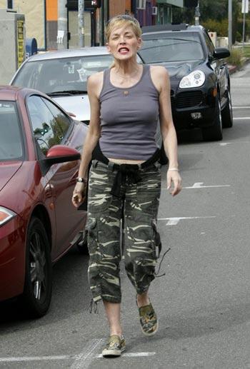 Sharon Stone enojada