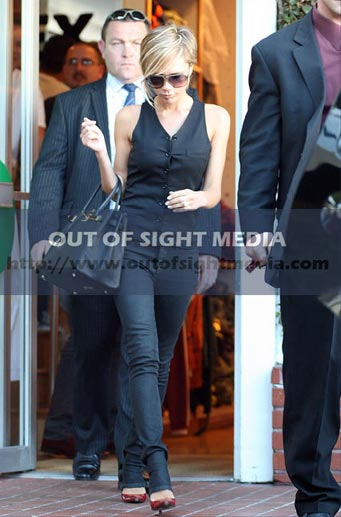 Victoria Beckham pelo rubio