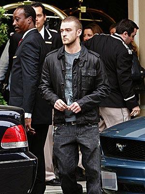 Justin Timberlake y Cameron Díaz en el hotel