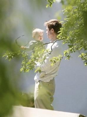 Brad Pitt y su hija Shiloh