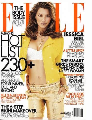 Jessica Biel para la revista Elle