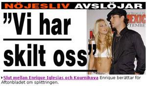 Enrique Iglesias ha roto con Anna