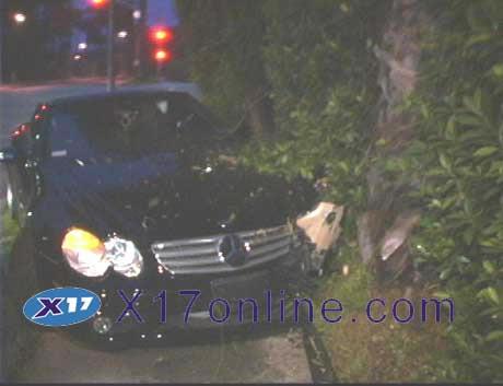 accidente auto lindsay lohan