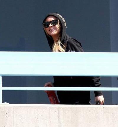 Lindsay Lohan ejercitándose