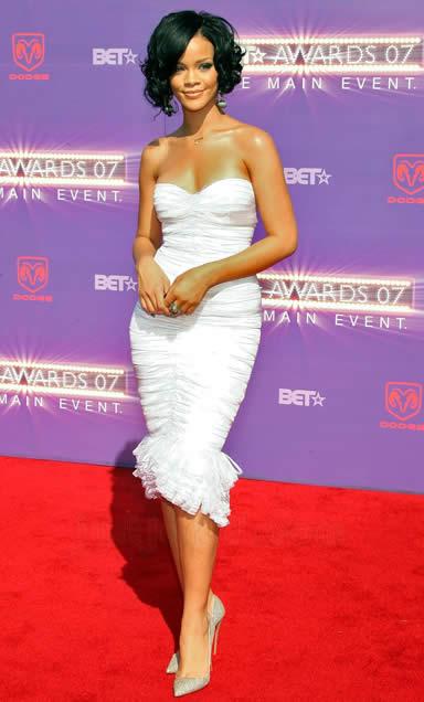 Rihanna alfombra roja de los BET
