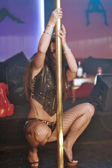 Britney Spears vestida de Stripper