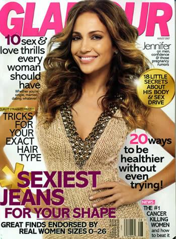 Jennifer Lopez portada Glamour