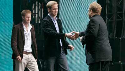 Elton John y principes concierto para Diana