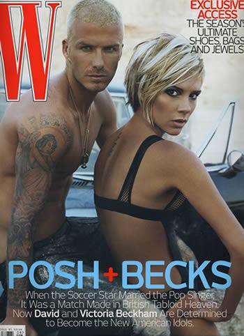 David y Victoria Beckham en portada de W