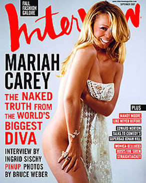 Mariah Carey semi desnuda