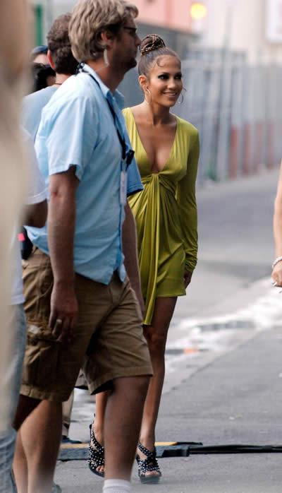 Jennifer Lopez filmando de nuevo 1