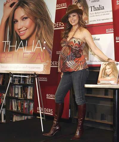 Thalía está por dar a luz