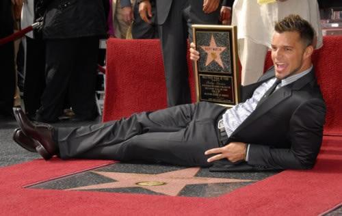 Ricky Martin recibió su estrella
