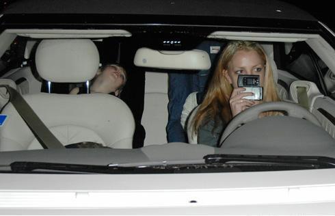 Britney se pasó la luz roja