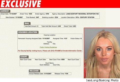 Lindsay Lohan fue a la cárcel 2
