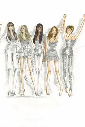 Vestuario de diseñador para las Spice Girls 2