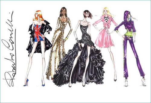 Vestuario de diseñador para las Spice Girls