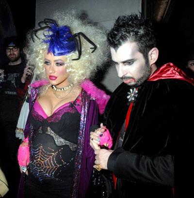 Christina Aguilera celebró Halloween