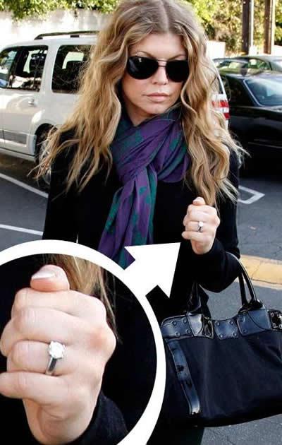 anillo de compromiso de Fergie